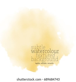 warm yellow water color splotch