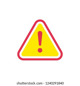 Warning alert icon vector on white background