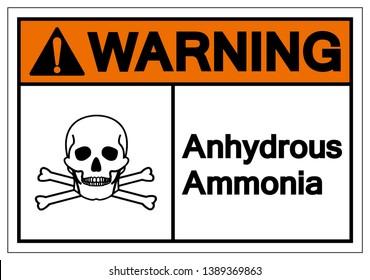 Warning Anhydrous Ammonia Symbol Sign, Vector Illustration, Isolate On White Background Label. EPS10