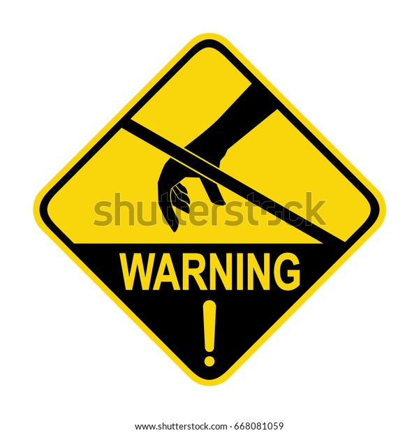Warning Anti Static Device Sign Symbol Stock Vector (Royalty