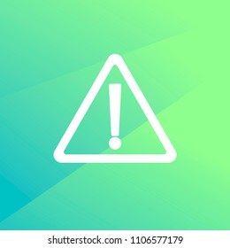 Warning attention icon.