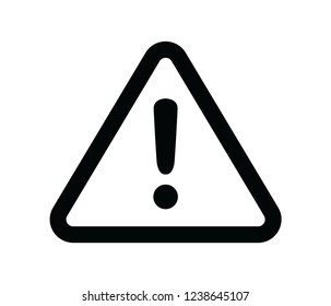 warning attention icon vector