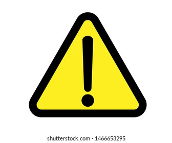 Warning attention sign. Danger sign design. Caution error icon. Vector icon