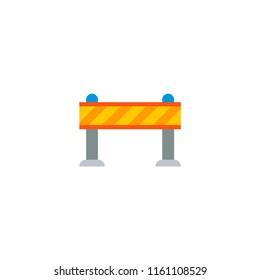 Warning barrier icon flat element. Vector illustration of warning barrier icon flat isolated on clean background for your web mobile app logo design.