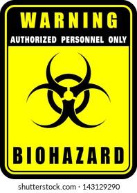 Warning, Biohazard, icon vector