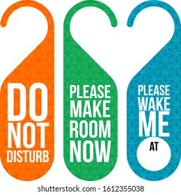 Warning card for room door. You can use it for hotel rooms or for your personal room.