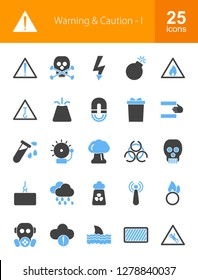 Warning & Caution Filled Icons
