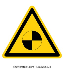 Warning Center Of Gravity Symbol Sign, Vector Illustration, Isolate On White Background Label. EPS10