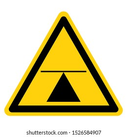 Warning Center Of Gravity Symbol Sign,Vector Illustration, Isolated On White Background Label. EPS10