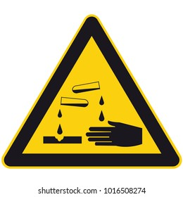 Warning corrosive substances and chemicals