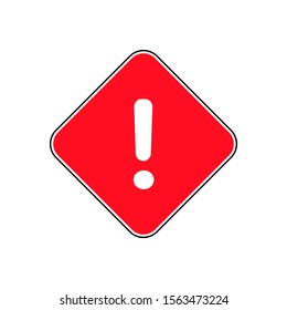 Warning dangerous error trendy style vector flat icon illustration design sign isolated on white background for web and mobile application site