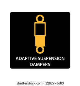 warning dashboard car icon, adaptive suspension dampers