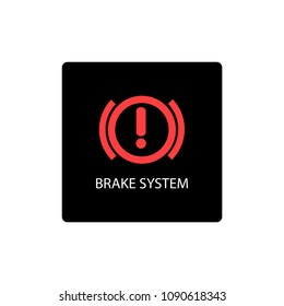 warning dashboard car icon, brake system