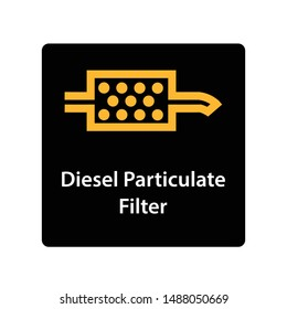 warning dashboard car icon, diesel particulate filter