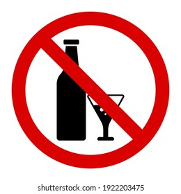 Warning do not alcohol drink sign and symbol graphic design vector illustration