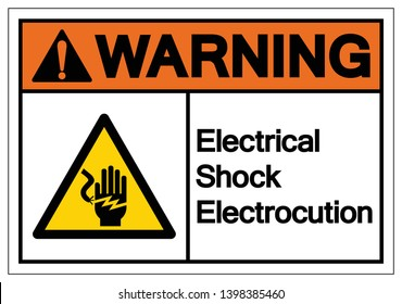 Warning Electrical Shock Electrocution Symbol Sign, Vector Illustration, Isolate On White Background Label .EPS10