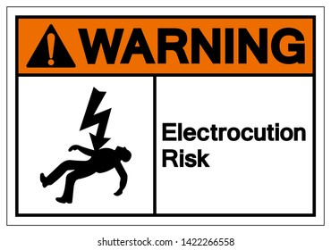 Warning Electrocution Risk Symbol Sign, Vector Illustration, Isolated On White Background Label .EPS10
