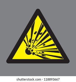 Warning Explosive Symbols