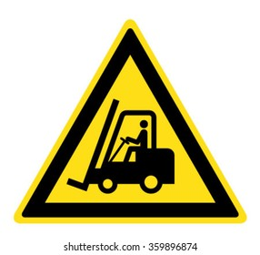 Warning Forklift trucks and other industrial vehicles sign (eps 10)