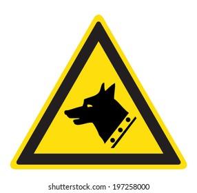 Warning guard dog sign (eps 10)