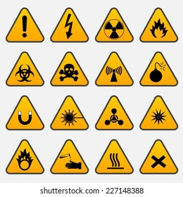 Warning Hazard Triangle Signs