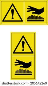 warning hot surface