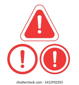 Warning icon. The attention icon. Danger symbol. Alert icon