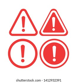 Warning Icon Vector. The attention icon. Danger symbol. Alert icon