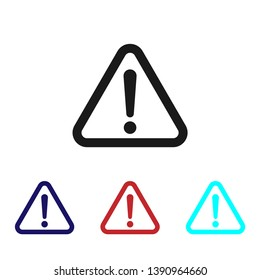 Warning icon vector, Attention sign