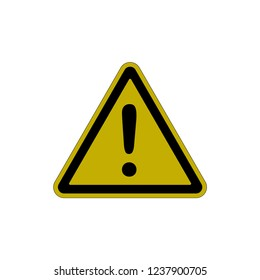 Warning Icon Vector Template.