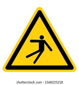 Warning Injury Hazard Slip Fall Symbol Sign, Vector Illustration, Isolate On White Background Label .EPS10