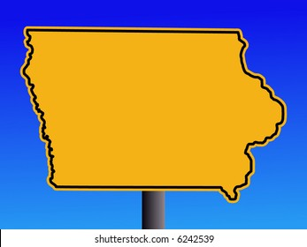 warning Iowa sign