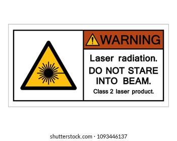 Warning Laser Radiation Symbol, Vector Illustration, Isolate On White Background Icon. EPS10
