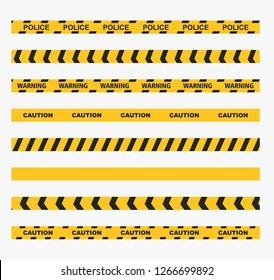 warning line vector illustration