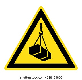 Warning Overhead load sign  (eps 10)