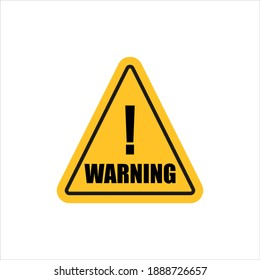 Warning Road Sign Isolated Vector