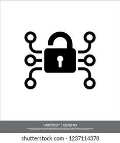 warning security icon vector