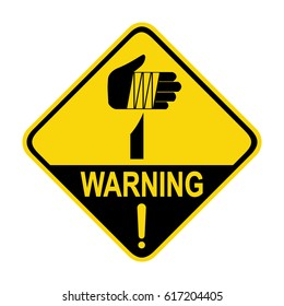 Warning sharp element, sign, symbol, illustration