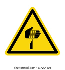 Warning sharp element, sign, symbol, vector