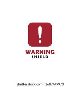 Warning shield Icon design vector