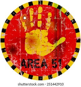 warning sign area fifty one  , vector illustration