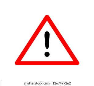 warning sign. Attention sign with exclamation mark symbol. Vector illustration
