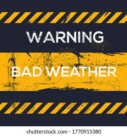 Warning sign (bad weather), vector illustration.