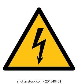 Warning sign, BEWARE HIGH VOLTAGE