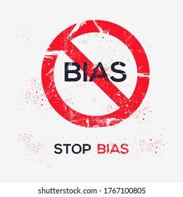 Warnzeichen (bias), Vektorgrafik.