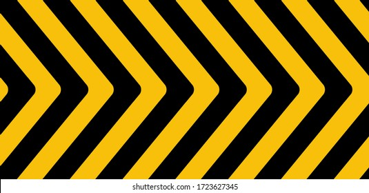 warning sign with black stripes on yellow background.