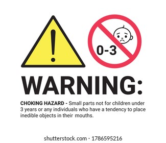 Warning Sign For Children - Vector Illustration Isolated On White Background