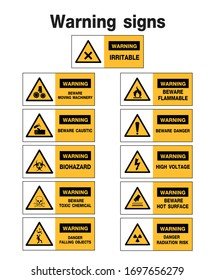 warning sign, construction symbols, vector design