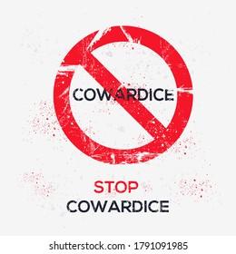 Warning sign (cowardice), vector illustration.