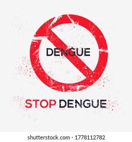 Warning sign (dengue), vector illustration.